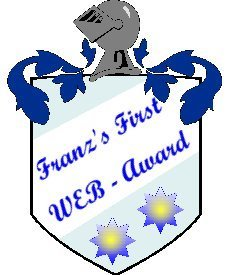 Franz's First WEB-Award in Gold